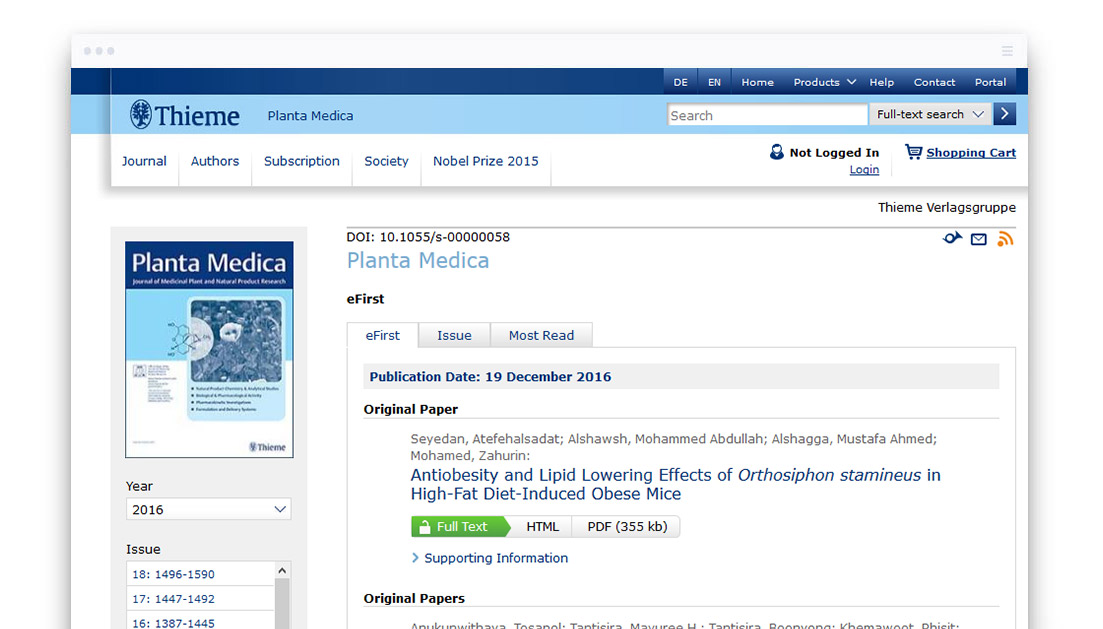 Thieme Chemistry And Pharmaceutical E Journals